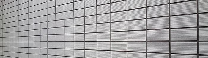 白い外壁タイル