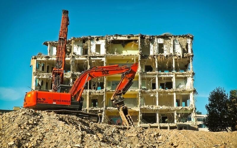 解体工事の現場のイメージ画像